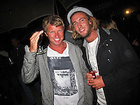 "Taj Burrow(AUS) and Matty Wilkinson (AUS). JEFFREYS BAY, South Africa (Sunday, July 18, 2010) - Jordy Smith (ZAF), 22, has claimed his maiden ASP elite victory, taking out the Billabong Pro Jeffreys Bay over Adam Melling (AUS), 25, in front of a capacity hometown crowd..Event No. 4 of 10 on the 2010 ASP World Tour, the Billabong Pro Jeffreys Bay was nothing but blaring Vuvuzelas and roars from the bluff as these two titans went tit-for-tat in an incredible Final exchange. The young South African proved the victor, dominating from the outset and securing an emotional first win..""This is the best day of my life,"" Smith said. ""The crowd on the beach has been supporting me the last few days and hearing the cheers and the Vuvuzelas just gets me fired up to perform. It feels like they're pushing me along. I couldn't have done it without them."".The most experienced surfer at Jeffreys Bay, Smith left very little to chance in the Final against Melling, opening his account with a blazing 8.90 before backing it up with some scintillating forehand surfing for a 9.03. The combination of scores (17.93 out of a possible 20) proved insurmountable for Melling.  Photo: joliphotos.com"