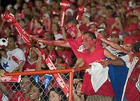 Panamanian fans before the start of the USA Panama match in Panama City, Panama, Wednesday, June 8, 2005. The USA won 3-0.