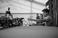 Peter Sagan (SVK/Cannondale) at the pr&eacute;-race press conference in Leeds <br /> <br /> Tour de France 2014