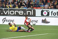 VOETBAL: LEEUWARDEN: 16-08-2015, SC Cambuur - Feyenoord, uitslag 0-2, Bilal Basacikoglu (#14), Marvin Peersman (#23), ©foto Martin de Jong