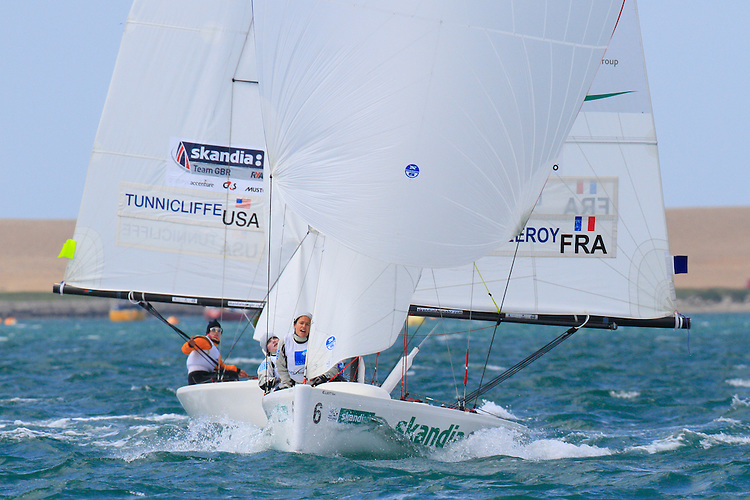 20120609, Weymouth, England: SKANDIA SAIL FOR GOLD 2012 - the last day of racing af the ISAF World Cup regatta in the Olympic venue. PHOTO: Mick Anderson/SAILINGPIX.DK