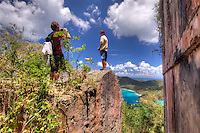 America Hill Ruins.Virgin Islands National Park.St. John.U.S. Virgin Islands