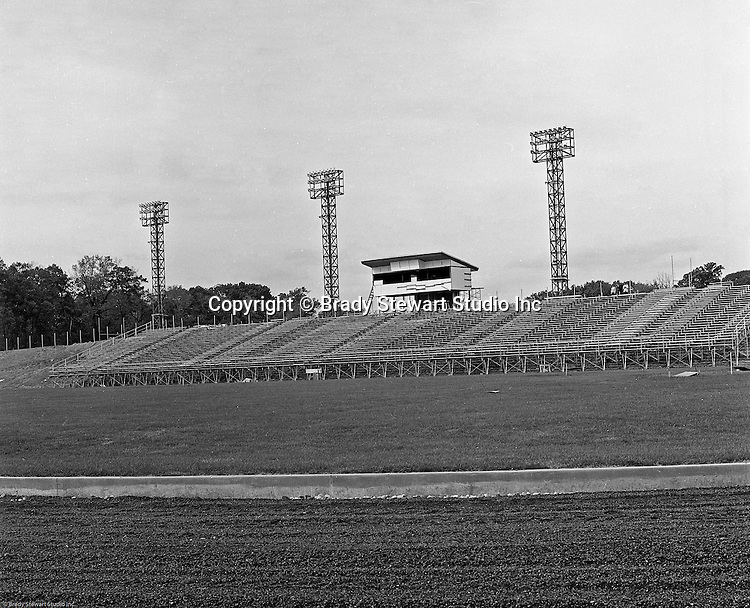 Bethel Park Senior High School:  View of the ongoing construction of the new High School Football Stadium - 1966.  The new Bethel Senior High School was dedicated on October 23, 1960, but the campus would not grow to its current size until seven years later. Phase II of the construction was completed in 1964 with the addition of another academic building and the industrial arts building. Phase III was completed in 1967 with the construction of the fourth academic building and a 6,300 seat football stadium and track, three tennis courts, seven basketball courts and a baseball field.