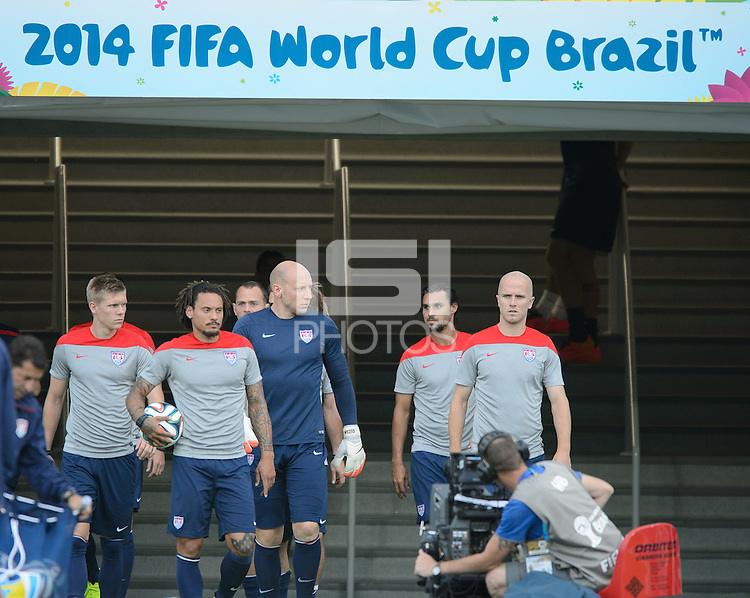 Natal, Brazil - Sunday, June 15, 2014: USMNT training at Natal Stadium for the FIFA World Cup 2014.