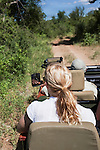 Game drive on safari, Makalali game reserve, South Africa