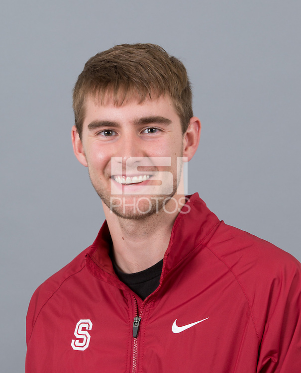 STANFORD, CA - SEPTEMBER 24, 2014--Justin Brinkley, with Stanford University Cross Country Team