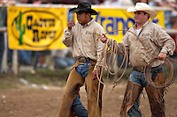 BOERNE, TX - JULY 28, 2007: The Corral Club Ring of Fire Ranch Rodeo held at the Kendall County Fairgrounds. (Photo by Jeff Huehn)