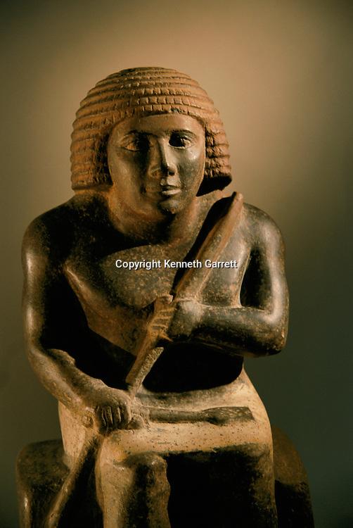 Painted basalt statue of the dwarf Perniankhu, Old Kingdom