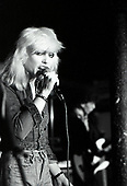 BLONDIE - Debbie Harry - performing live at Dingwalls in Camden London UK - 24 Jan 1978.  Photo credit: George Bodnar Archive/IconicPix