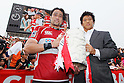 (L to R) Hitoshi Ono (JPN), Takashi Kikutani (JPN), MAY 22, 2010 - Rugby : Hitoshi Ono of Japan celebrates wining victory during the HSBC Asian 5 Nations 2010 match between Japan 94-5 Hong Kong at Chichibunomiya Rugby Stadium, Tokyo, Japan. (Photo by Yusuke Nakanishi/AFLO SPORT) [1090]