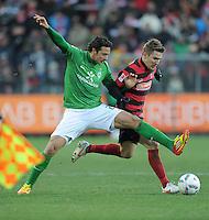 FUSSBALL   1. BUNDESLIGA   SAISON 2011/2012    20. SPIELTAG  05.02.2012 SC Freiburg - SV Werder Bremen Claudio Pizarro (li, SV Werder Bremen) gegen Erik Jendrisek (SC Freiburg)