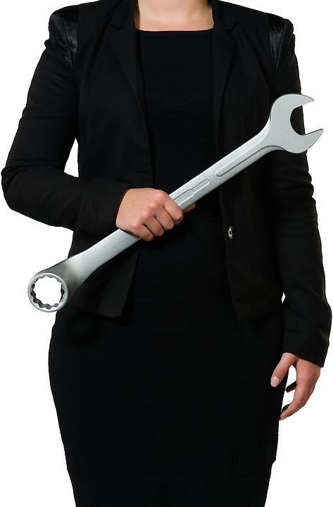 Female executive tightening the rules within the company