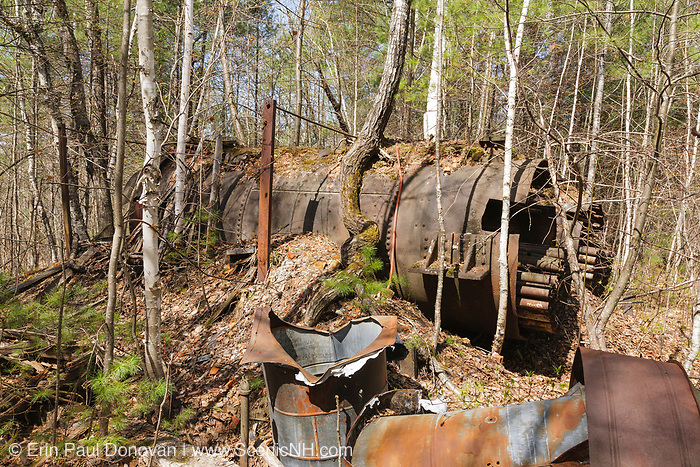 The abandoned Redstone Granite quarry in Conway, New Hampshire USA