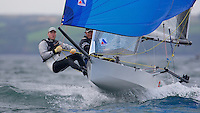 ENGLAND, Falmouth, Restronguet Sailing Club, 8th September 2009, International 14 Prince of Wales Cup Week, GBR1500 Douglas Pattison and Mark Tait