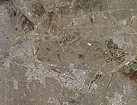 aerial photo map of Los Angeles, California