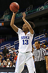 03 March 2016: Duke's Crystal Primm. The Duke University Blue Devils played the University of Virginia Cavaliers at the Greensboro Coliseum in Greensboro, North Carolina in the Atlantic Coast Conference Women's Basketball tournament and a 2015-16 NCAA Division I Women's Basketball game. Duke won the game 57-53.
