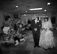 Chernobyl, Ukraine, Ocober 1995..The explosion at the Chernobyl Nuclear Power Plant on April 26 1986 was the worst nuclear accident in history..A wedding party in the new town of Slavutich outside the radioactive zone.