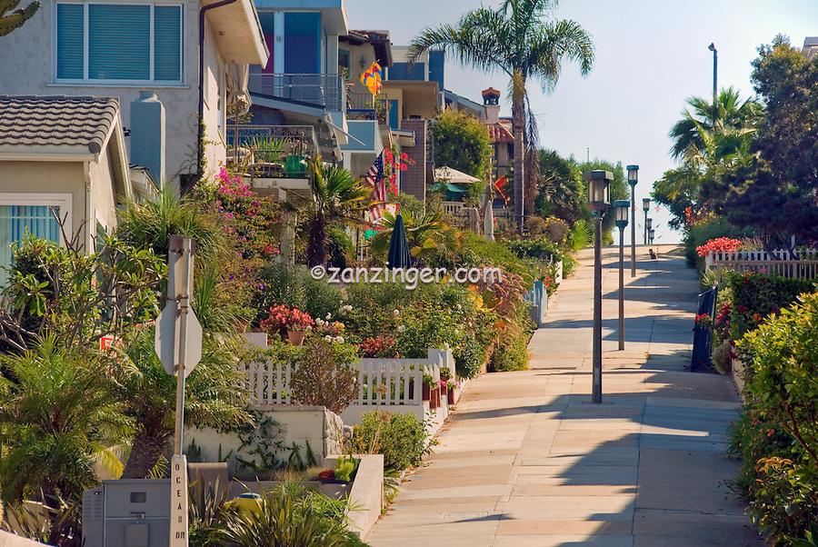 Manhattan Beach CA, Walk Street, Hill, southwestern, Los Angeles County, Santa Monica Bay, , quaint, alleyways, and, walk, streets, of the, Sand Section,