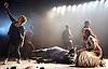 Carmen Disruption <br /> at Almeida Theatre, London, Great Britain <br /> press photocall<br /> 16th April 2015 <br /> <br /> Jack Farthing as Carmen <br /> <br /> Noma Dumezweni as Don Jose <br /> <br /> John Light as Escamillo <br /> <br /> Katie West as Michaela <br /> <br /> Sharon Small (singer)<br /> <br /> <br /> <br /> Photograph by Elliott Franks <br /> Image licensed to Elliott Franks Photography Services