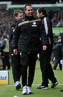FUSSBALL   1. BUNDESLIGA   SAISON 2011/2012   21. SPIELTAG Werder Bremen - 1899 Hoffenheim                        11.02.2012 Trainer Markus Babbel (Hoffenheim) auf dem Weg zur Trainerbank