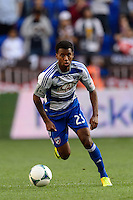 Kellyn Kai Perry-Acosta (23) of FC Dallas. The New York Red Bulls defeated FC Dallas 1-0 during a Major League Soccer (MLS) match at Red Bull Arena in Harrison, NJ, on September 22, 2013.