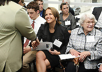 CBS evening news anchor Katie Couric greets fans while attending the groundbreaking ceremony for the new Emily Couric Cancer Center Saturday April 12, 2008 at the University of Virginia Medical Center in Charlottesville, Va. The center is named after State Sen. Emily Couric, a rising star in Virginia's Democratic Party, who died in 2001of pancreatic cancer. The sister of NBC's ``Today'' show co-host Katie Couric was 54. Couric died at her home in Charlottesville, where she had lived for almost 20 years.