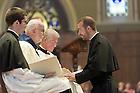 Aug. 25, 2012; Mr. Mark Francis DeMott, C.S.C. professes Final Vows to Rev. Thomas O'Hara, C.S.C., Provincial Superior...Photo by Matt Cashore/University of Notre Dame