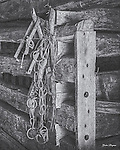 Long-unused tack hangs in a barn at the MountainFarm Museum, Oconaluftee Visitors Center, Great Smoky Mountains national Park. HDR image made from 3 separate exposures.