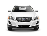 White 2011 Volvo XC60 3.2 AWD isolated car on white background with clipping path