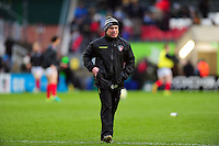 Leicester Tigers Director of Rugby Richard Cockerill looks on during the pre-match warm-up. Aviva Premiership match, between Leicester Tigers and Saracens on January 1, 2017 at Welford Road in Leicester, England. Photo by: Patrick Khachfe / JMP