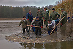 Every autumn carps are caught and placed in special reservoirs for winter, or sold for Christmas table. 2004-11-03,Fot Piotr Gesicki