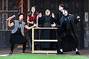 "Shakespeare's Globe presents ROMEO AND JULIET, by WIlliam Shakespeare, directed by Daniel Kramer, as part of Emma Rice's ""Summer of Love"" season. Picture shows: Golda Rosheuvel (Mercutio), Kirsty Bushell (Juliet), Harish Patel (Friar Lawrence), Edwrd Hogg (Romeo), Ricky Champ (Tybalt)"