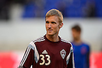 Jared Watts (33) of the Colorado Rapids. The New York Red Bulls and the Colorado Rapids played to a 1-1 tie during a Major League Soccer (MLS) match at Red Bull Arena in Harrison, NJ, on March 15, 2014.