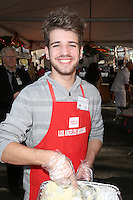 Los Angeles, CA - NOVEMBER 23: Brandon Tyler Russell, At Los Angeles Mission Thanksgiving Meal For The Homeless At Los Angeles Mission, California on November 23, 2016. Credit: Faye Sadou/MediaPunch
