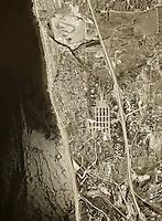 historical aerial photograph Del Mar, San Diego county, California, 1967
