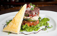Quebec city, August 1, 2008 - Greek salad, a trademark dish of Largo restaurant on St-Joseph street in Quebec city.