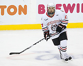 Steve Silva (Northeastern - 17) - The Northeastern University Huskies defeated the Harvard University Crimson 4-0 in their Beanpot opener on Monday, February 7, 2011, at TD Garden in Boston, Massachusetts.