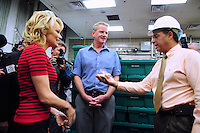 Phoenix, Arizona -- A jail official shows actress Pamela Anderson some samples of the food that is served in the Lower Buckeye County Jail complex.  Anderson visited the jail in Phoenix, Arizona to promote all-vegetarian meals for inmates. Anderson visited the detention facilities as a spokesperson for People for the Ethical Treatment of Animals (PETA). The actress was given a tour of the facilities by Maricopa County Sheriff Joe Arpaio.  Anderson was accompanied by PETA Senior Vice President Dan Mathews. Photo by Eduardo Barraza © 2015