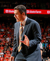 CHARLOTTESVILLE, VA- DECEMBER 6: Head coach Tony Bennett of the Virginia Cavaliers makes a call during the game on December 6, 2011 against the George Mason Patriots at the John Paul Jones Arena in Charlottesville, Virginia. Virginia defeated George Mason 68-48. (Photo by Andrew Shurtleff/Getty Images) *** Local Caption *** Tony Bennett