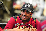 May 5, 2012; Commerce, GA, USA: NHRA top fuel dragster driver Khalid Albalooshi during qualifying for the Southern Nationals at Atlanta Dragway. Mandatory Credit: Mark J. Rebilas-