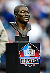 29 November 2009: Buffalo Bills' Hall of Fame Member Bruce Smith is honored with the presentation of his HOF ring and the display of his bronze likeness during a game fans against the Miami Dolphins at Ralph Wilson Stadium in Orchard Park, New York. The Bills defeated the Dolphins 31-14. Mandatory Credit: Ed Wolfstein Photo