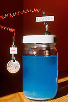 ELECTROLYSIS OF COPPER SULFATE<br /> Electroplating A Nickel<br /> When water is added to copper sulfate, it is broken into copper ions (Cu2+) and sulfate ions (SO42-). When electric current flows the solution Cu2+ bonds with negatively charged metal