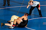 12 MAR 2011:  Matthew Meuleners of Northern State (in brown) wrestles Jake Kahnke of St. Cloud State during the Division II Men's Wrestling Championship held at the UNK Health and Sports Center on the University of Nebraska - Kearney campus in Kearney, NE. Meuleners defeated Kahnke 4-3 to win the 285-lb national title. Corbey R. Dorsey/ NCAA Photos