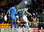 St Johnstone v Celtic..30.10.10  .Michael Duberry clears from Anthony Stokes.Picture by Graeme Hart..Copyright Perthshire Picture Agency.Tel: 01738 623350  Mobile: 07990 594431