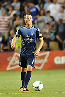 Sporting Park, Kansas City, Kansas, July 31 2013:<br /> Brad Davis (11) midfield MLS All-Stars in action.<br /> MLS All-Stars were defeated 3-1 by AS Roma at Sporting Park, Kansas City, KS in the 2013 AT &amp; T All-Star game.