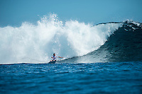 Namotu Island Resort, Nadi, Fiji (Saturday, June 5 2016): Taj Burrow (AUS) - The  2016 Fiji  Pro commenced at Cloudbreak this morning in a bumpy 4'-5' swell. Round one was completed as new longer period swell from the West filled in during the day. Round Two was called off as the  wind swung to the NW making the surface the waves very choppy.  Photo: joliphotos.com