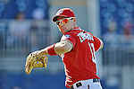 19 September 2012: Washington Nationals third baseman Ryan Zimmerman warms up prior to a game against the Los Angeles Dodgers at Nationals Park in Washington, DC. The Nationals defeated the Dodgers 3-1 in the first game of their double-header. Mandatory Credit: Ed Wolfstein Photo
