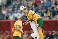 WINNIPEG, MANITOBA, CANADA - June 12, 2015: Australia vs Nigeria match at the Winnipeg Stadium.