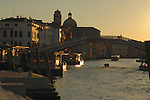 Early morning light,Bridge Punte te degli scalzi, close to the railway station, Ferroviaria, Venice, Italy.