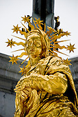 The Golden Madonna statue at the Cathedral of Einsiedeln in Switzerland.